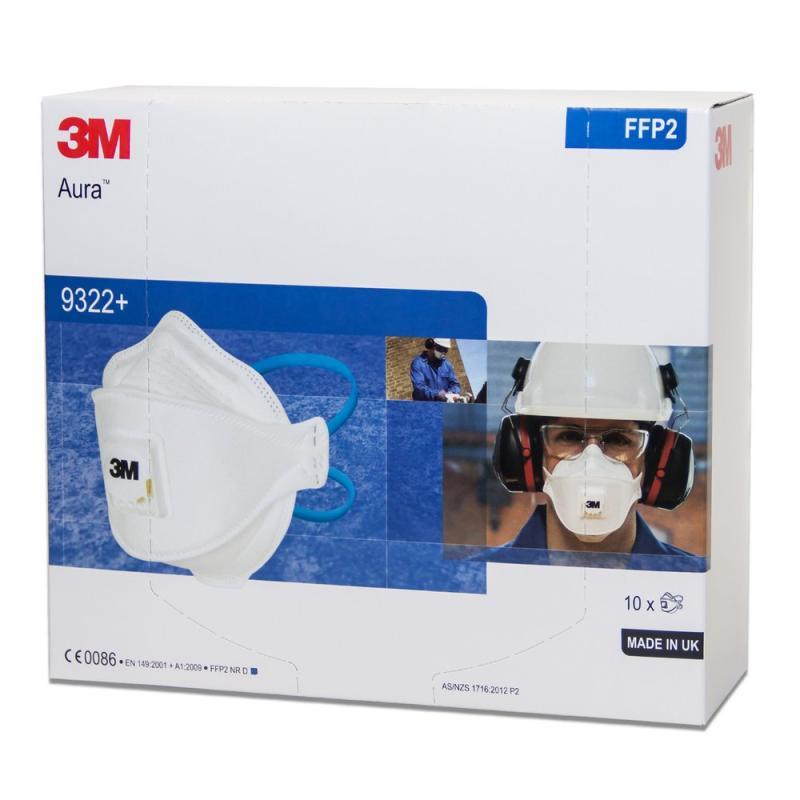 3M™ Aura™ 9322+ Atemschutzmaske FFP2 - 10er Packung