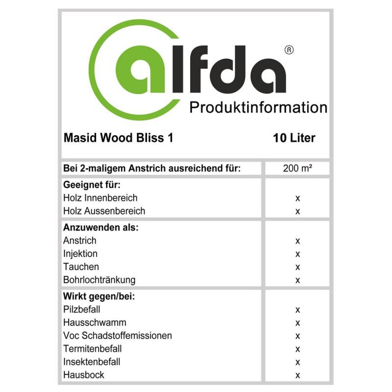 Wood Bliss1 10L Produktinformation