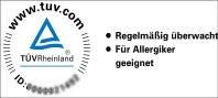 """Encasing TÜV-Prüfung """"für Allergiker geeignet"""""""